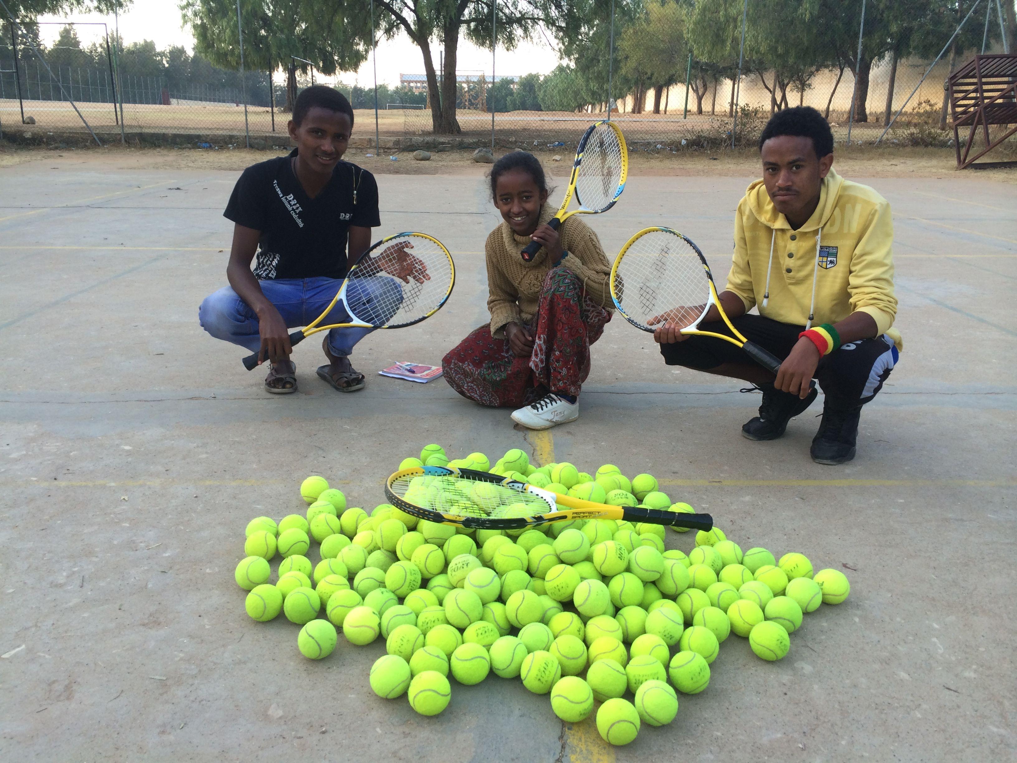 Escuela de tenis.